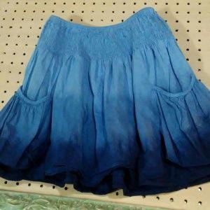 Mossimo Supply blue skirt w pockets sz S